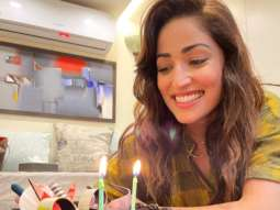 Yami Gautam celebrates wrap up of Bhoot Police with a chocolate cake