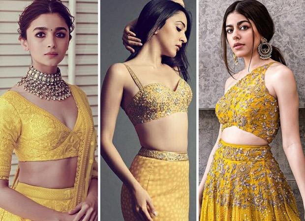 3 yellow embellished lehengas from Alia Bhatt, Kiara Advani, Alaya F's collection to add your wedding season wardrobe