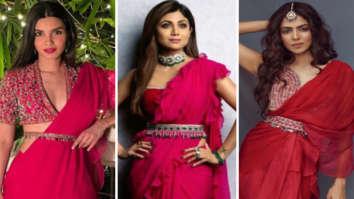 Diana Penty, Shilpa Shetty or Malavika Mohanan – who looked ravishing in fuschia Ridhi Mehra saree?