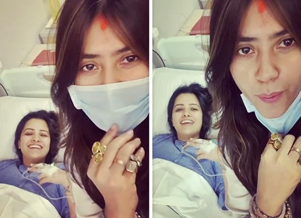 "Ekta Kapoor shares an adorable video with new-mommy Anita Hassanandani, says, ""Mera bhanja hua hai"""