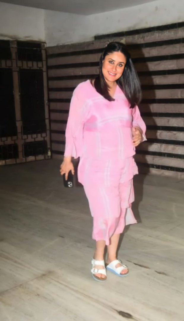 Kareena Kapoor Khan sets maternity fashion goals in pastel pink dress