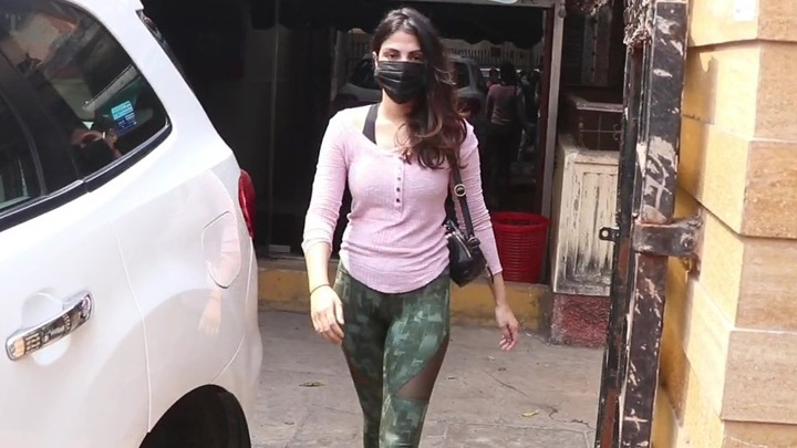 Rhea Chakraborty with brother Showik spotted at gym in Khar