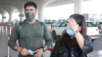 MS Dhoni with wife spotted at Airport