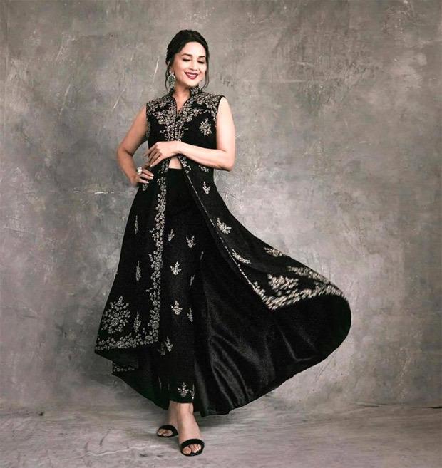 Madhuri Dixit exudes sheer elegance in Rs. 71k modern ethnic attire for Dance Deewane launch