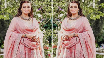 Newlywed Dia Mirza opts for pastel pink Anita Dongre anarkali set for post wedding celebration