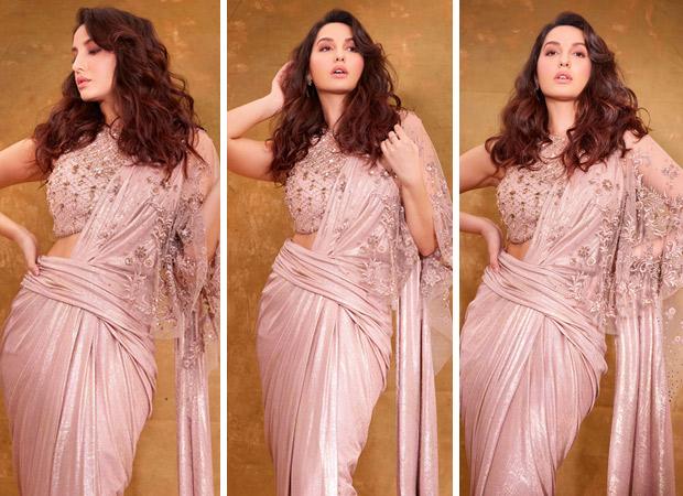 Nora Fatehi steals the limelight in Tarun Tahiliani x Goenka India embroidered saree worth Rs. 69, 900 during Bigg Boss 14 finale