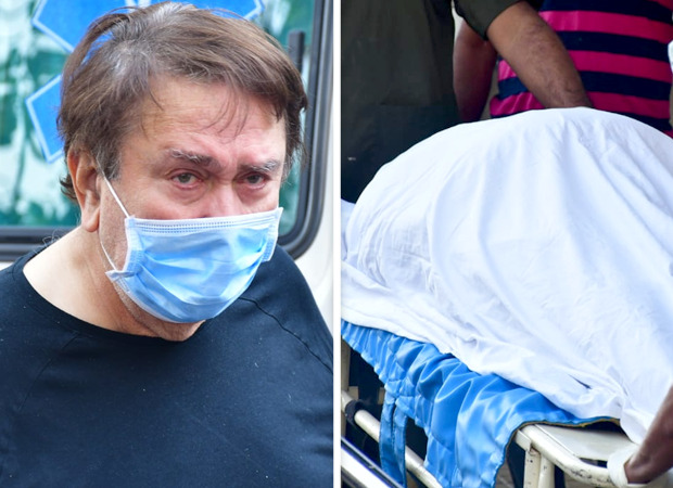 PICTURES Randhir Kapoor spotted at the hospital before arriving with Rajiv Kapoor's mortal remains at their residence