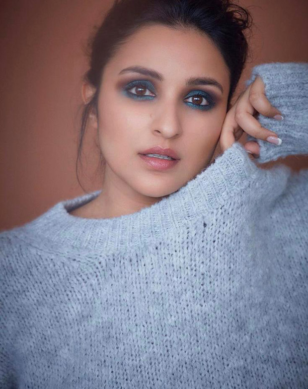 Parineeti Chopra is high on drama with blue smokey eye during The Girl On The Train promotions
