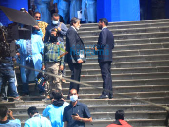 Photos: Amitabh Bachchan and Ajay Devgn spotted shooting in town | Parties & Events Moviesflix