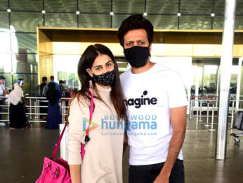 Photos: Riteish Deshmukh, Genelia Dsouza and Hiten Tejwani spotted at the airport