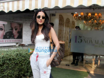 Photos: Sonal Chauhan spotted outside a salon in Bandra