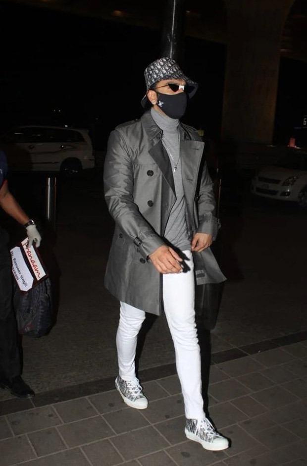Ranveer Singh, Deepika Padukone and Ranbir Kapoor are matching in Louis Vuitton masks worth Rs. 25k