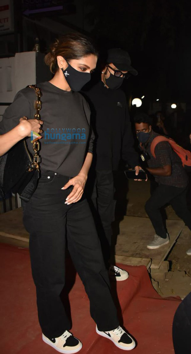 Ranveer Singh and Deepika Padukone set couple goals twinning in black during their dinner date