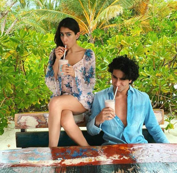 Sara Ali Khan and Ibrahim Ali Khan are double trouble whilst enjoying smoothies in Maldives - Bollywood Hungama