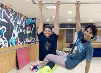 Siddhant Chaturvedi and Ishaan Khatter play the 'baddy' game on the sets of Phone Bhoot