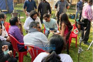 On The Sets from the movie Suswagatam Khushamadeed