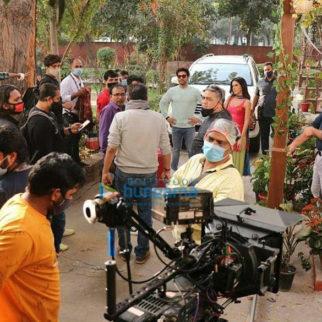 On The Sets Of The Movie Suswagatam Khushamadeed
