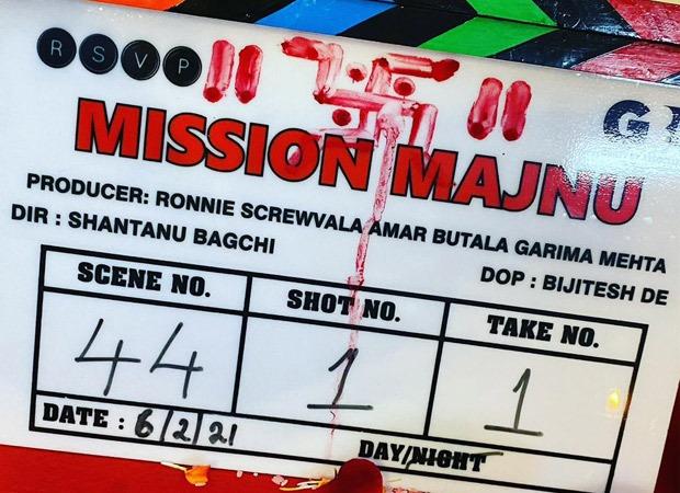 Sidharth Malhotra and Rashmika Mandanna starrer Mission Majnu commences shoot in Lucknow - Bollywood Hungama