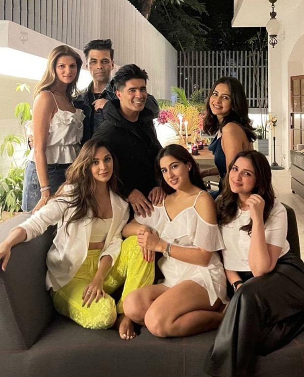 Karan Johar shares glimpse with Sara Ali Khan, Parineeti Chopra, Rakul Preet Singh, Kiara Advani from Manish Malhotras party, says Pawri Ho Rahi Hai - Bollywood Hungama