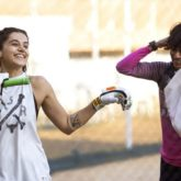 Taapsee Pannu trains with Mithali Raj's friend and former teammate Nooshin Al Khadeer for Shabaash Mithu