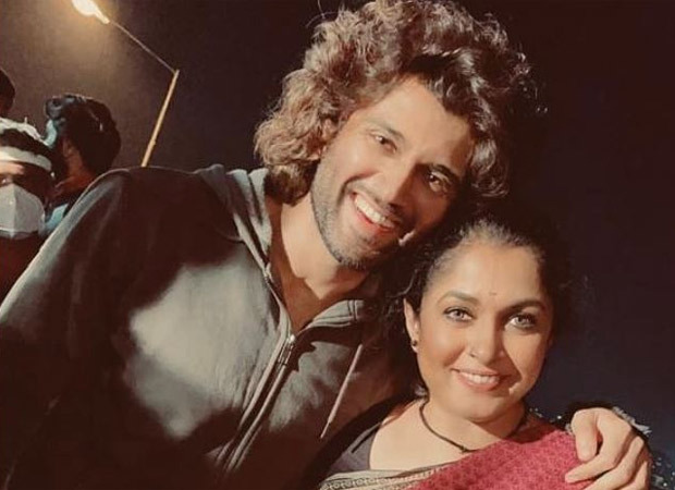 Ramya Krishnan shares a picture with Vijay Deverakonda from the sets of Liger