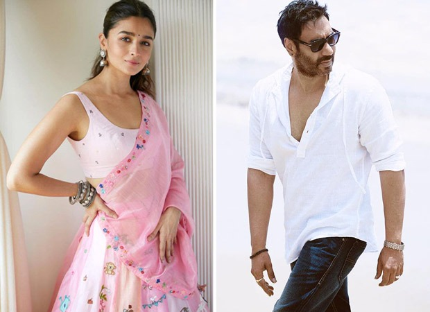Alia Bhatt & Ajay Devgn face the camera together for the first time