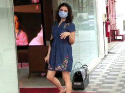 Divya Khosla Kumar spotted at T-series office in Andheri