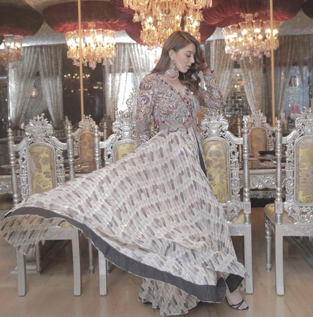 Hansika Motwani makes a statement in boho printed dress for her brother's lavish wedding in Jaipur