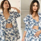 Hina Khan serves looks in printed monotone co-ord set with a blazer