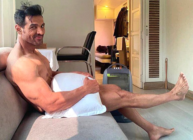 John Abraham poses with JUST a pillow, leaves his fans drooling!