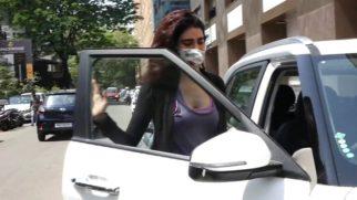 Karishma Tanna spotted at Lakshmi industrial gym in Andheri