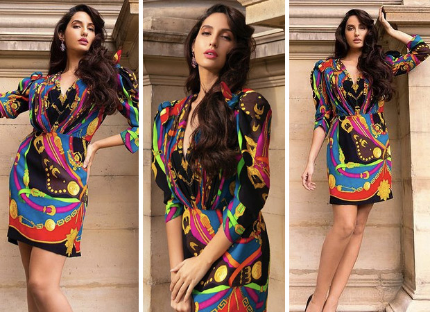 Nora Fatehis stunning multicoloured Versace dress is worth Rs. 2.3 lakhs 3