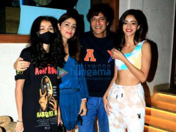 Photos: Ananya Panday, Chunky Pandey, Bhavna Pandey, Ileana D'Cruz and Meezaan Jafri snapped at Bastian in Worli