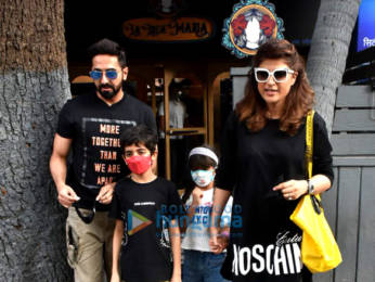 Photos: Ayushmann Khurrana snapped with wife Tahira Kashyap and kids in Bandra