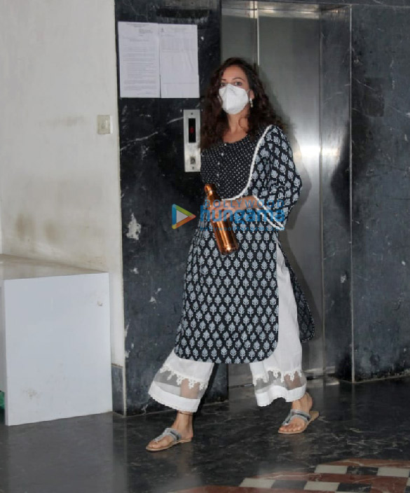 Photos: Dia Mirza spotted at a salon in Bandra