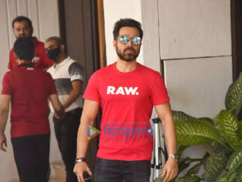 Photos: Emraan Hashmi, Anand Pandit and Rumi Jaffery snapped outside Anand Pandit's office in Juhu