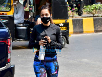 Photos: Malaika Arora spotted at Diva Yoga in Bandra