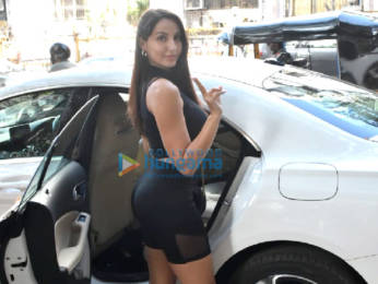 Photos: Nora Fatehi snapped at Muah salon in Bandra