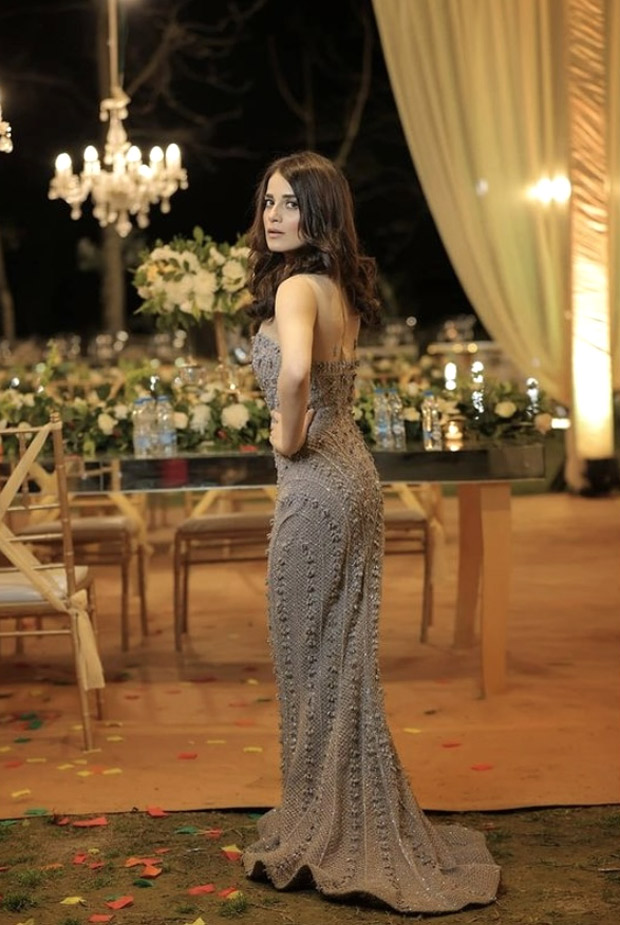 Radhika Madan's strapless evening gown by Falguni Shane Peacock is absolutely gorgeous