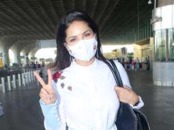 Spotted - Sunny Leone, Nimrat Kaur and Rahul Bose at Airport