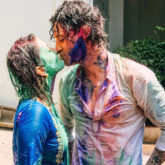 Sunny Leone and Daniel Webber share a colourful kiss and celebrate Holi with their kids