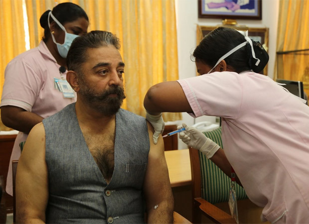 Kamal Haasan takes the first dose of COVID-19 vaccination; encourages others to get vaccinated immediately