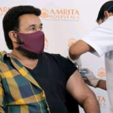 Mohanlal takes the first dose of COVID-19 vaccination