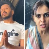 Riteish Deshmukh kisses Preity Zinta's hands; Genelia Deshmukh shows what happened next