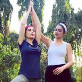 Amrita Rao resumes her fitness regime post-delivery