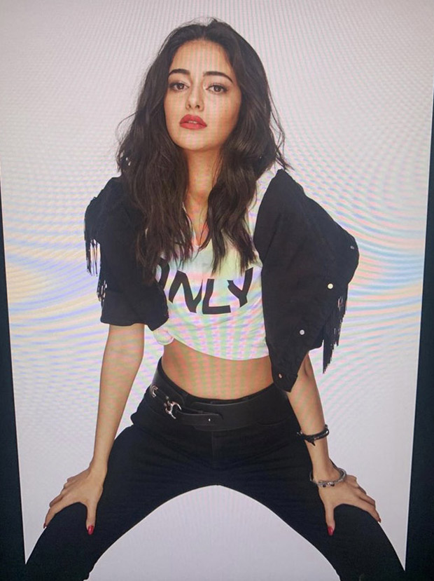 Ananay Panday sparkles in shimmery top and black shorts