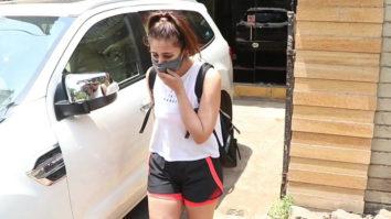 Dhvani Bhanushali spotted at gym in Santacruz