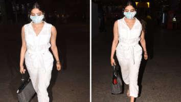 Janhvi Kapoor keeps it comfy in white jumpsuit; carries luxury Goyard handbag worth Rs. 3.2 lakhs