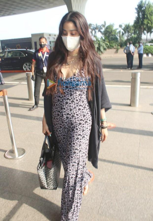 Janhvi Kapoor steps out in plunging neckline printed jumpsuit and black shrug