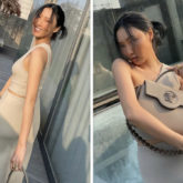 MAMAMOO's Hwasa proves neutrals are taking over this Spring; singer carries a Versace handbag worth Rs. 2.7 lakhs